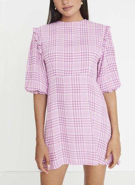 Faithfull The Brand Edwina Mini Dress - Irish Check