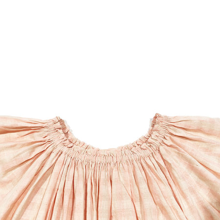 Anaak Haveli Gather Blouse - Pink Shadow Stripe