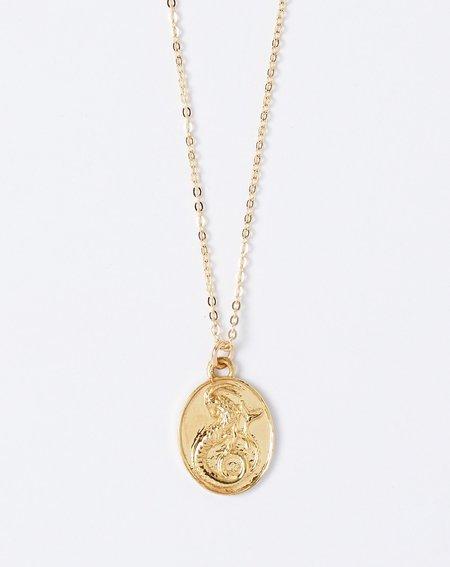 Talon Zodiac Pendant Necklace - Capricorn