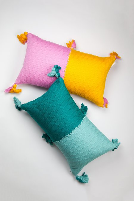 Archive New York Antigua Pillow - Bubblegum/Orange Colorblocked