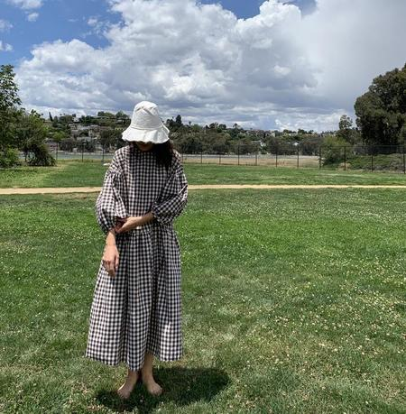 APRIL MEETS OCTOBER May Dress - Brown Gingham