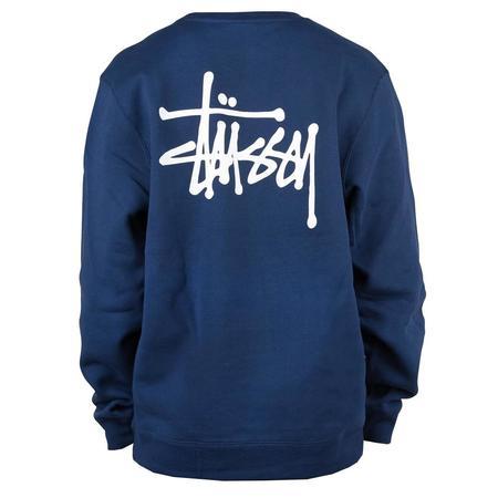 Stussy Basic Crew Sweatshirt - Navy