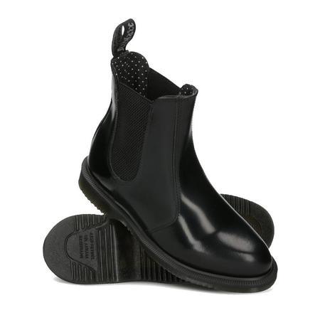 Dr. Martens Flora Smooth Leather Boots - Black Polished