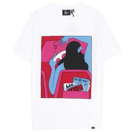 by Parra How To Live Now T-shirt - White