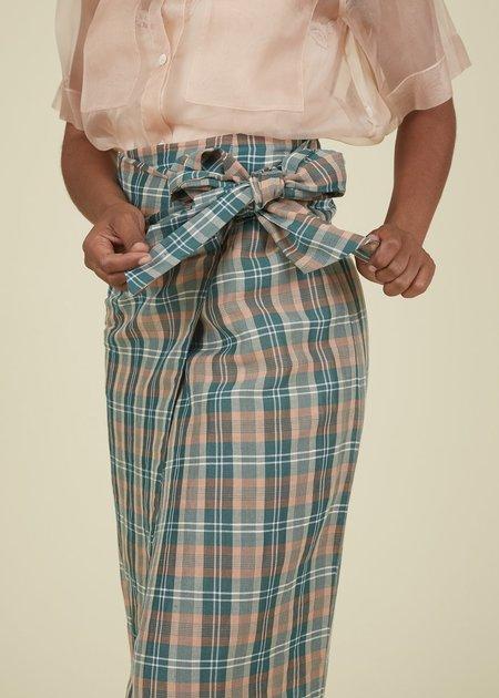 Tela Acerba Wrap Skirt - Pink/Green