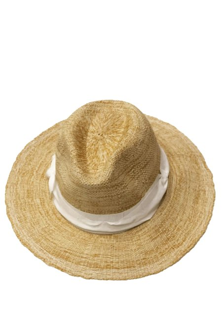 Lola Ehrlich Rise and Shine Straw Hat - Oatmeal/White Ribbon