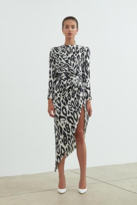 Ronny Kobo Jade Dress - Leopard Jacquard Print
