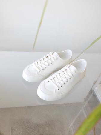Erik Schedin Canvas Sneaker - Off White