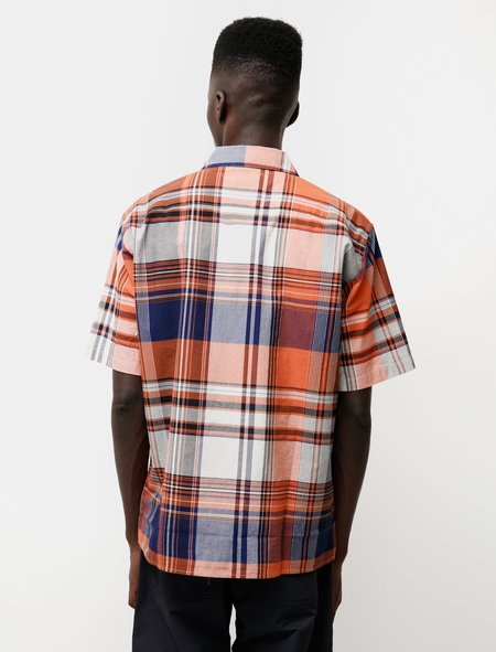 Norse Projects Carsten Madras Shirt - Orange