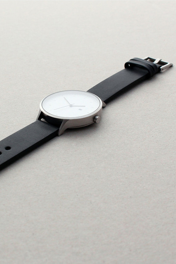 Men's INSTRMNT Series 01-C BS/B Watch - White/Black