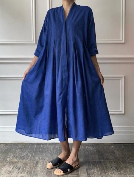 Maison de Soil Cotton Silk Pleated Dress