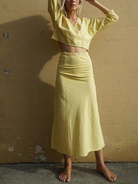 Here. Bias Slit Long Skirt