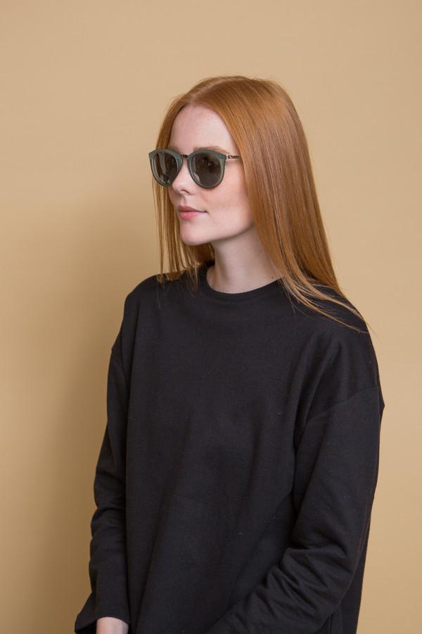 Le Specs No Smirking Sunglasses / Olive Rubber