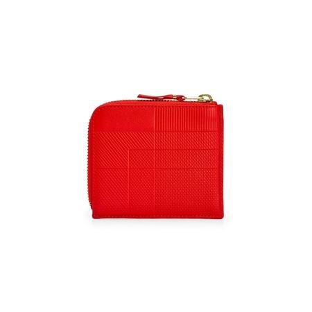 Comme des Garçons ntersection Lines 1/2 Zip Wallet - Red