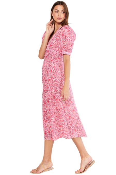 Misa Los Angeles Betsee Dress - Pink Animal Floral