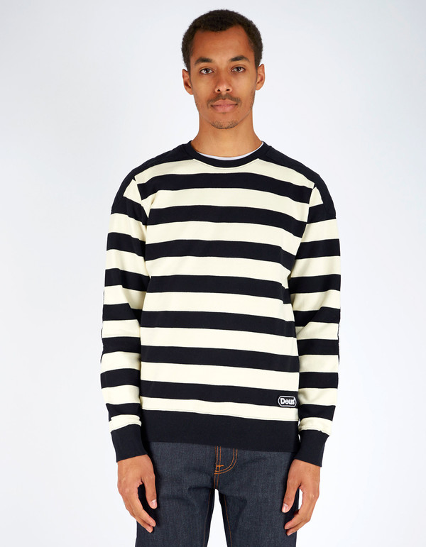 Men's Deus Cadillac Crew Black Stripe
