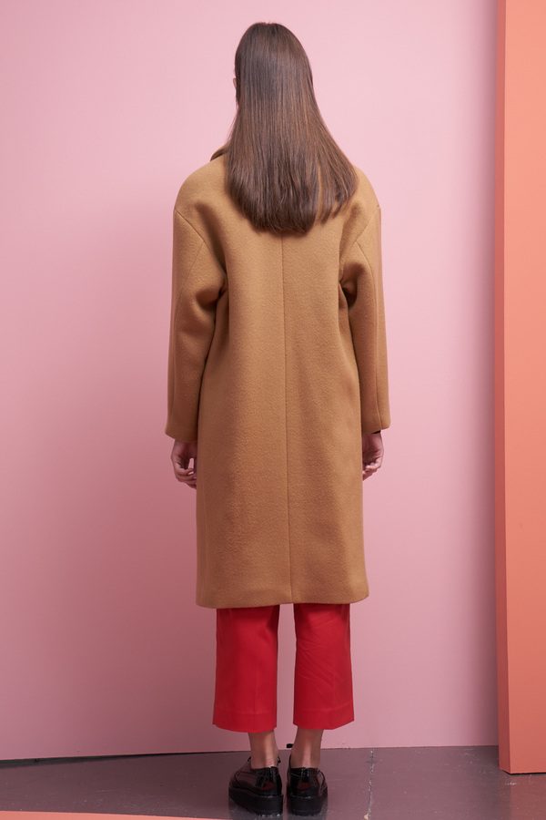 LOOKAST Oversized Long Wool Coat- Camel