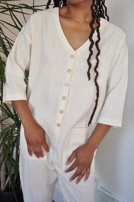 Happy French Gang Jumpsuit - Ivory