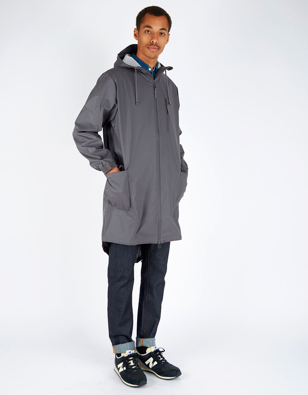 Men's Rains Parka Coat Smoke