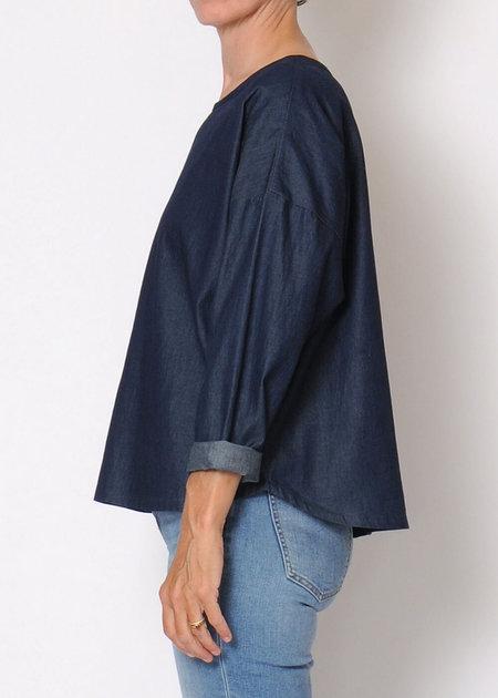 Conifer Denim Pullover Top Sample - Denim Chambray