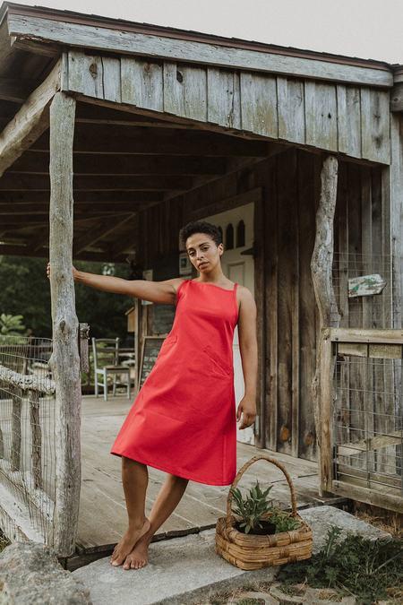 Conrado Aina Apron Skirtalls - Red Twill