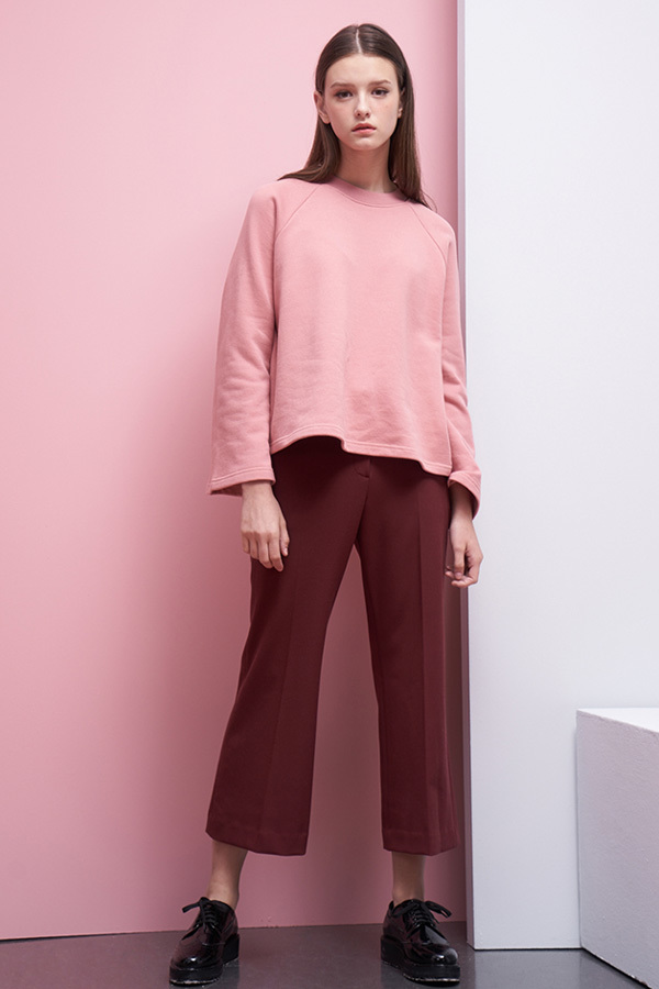 LOOKAST Bell Sleeve Sweatshirt- Baby Pink