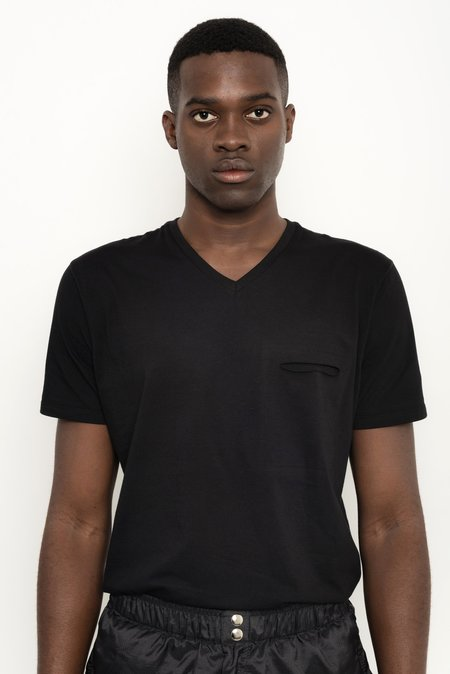 Unisex Uma Raquel Davidowicz Cupula V-Neck Organic Cotton T-Shirt - Black