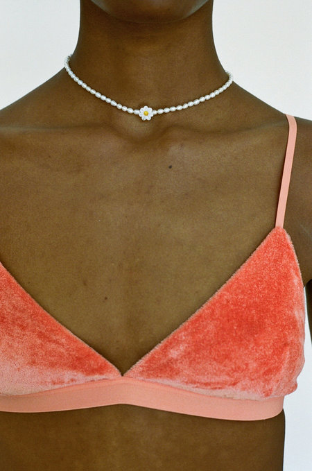 BASERANGE Velour Mississippi Bra - Palo Orange