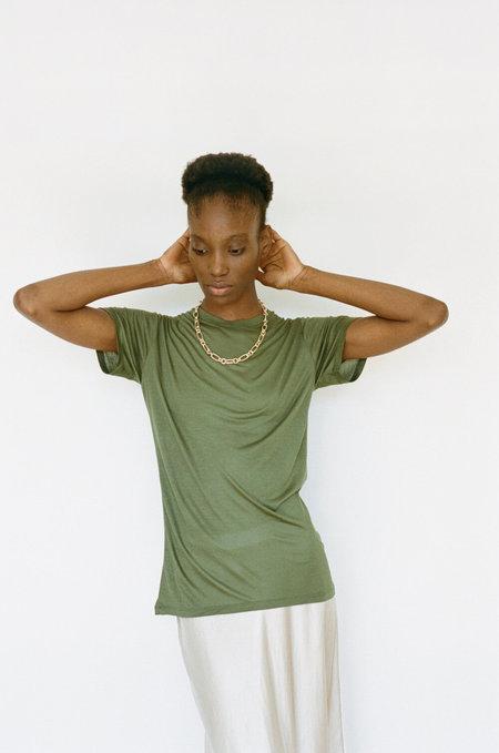 BASERANGE Bamboo Jersey Tee Shirt - Apache Green