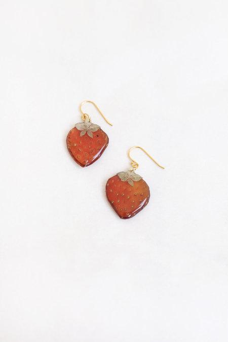 DAUPHINETTE Strawberry Slice Earrings - Pink