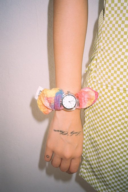 Kk Co Studio KkCo & Breda Scrunchie Sleeve & Watch Set - Tie-Dye/Crystal