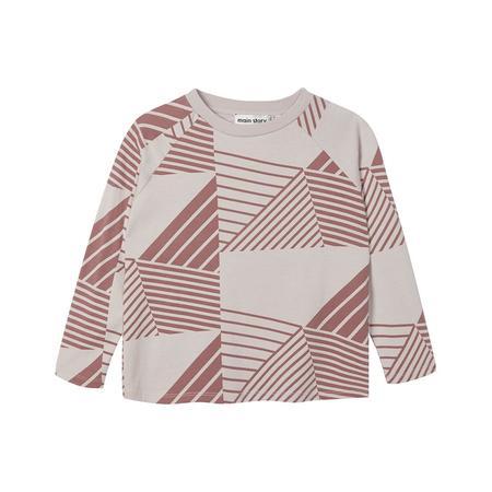 Kids Main Story Raglan T-Shirt - Hush Violet/Sable Lines