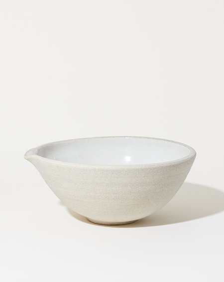 Sheldon Ceramics Vermont Mixing Pour Bowl - White Granite