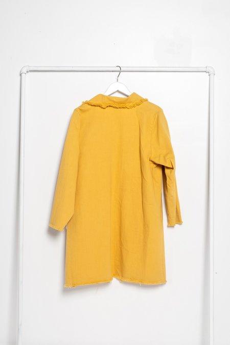 Unisex Ashley Rowe Pocket Coat - Golden Tan