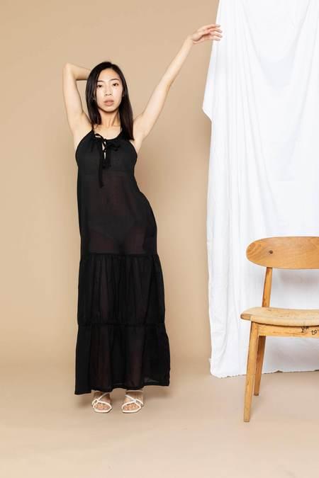 Conrado Paula Tiered Cover-Up Maxi Dress - Black