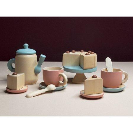 Kids Shop Merci Milo Wooden Pastel Tea Set - Blue