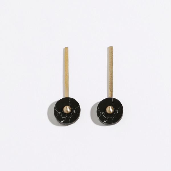 Metalepsis Projects Disc Earrings - Black