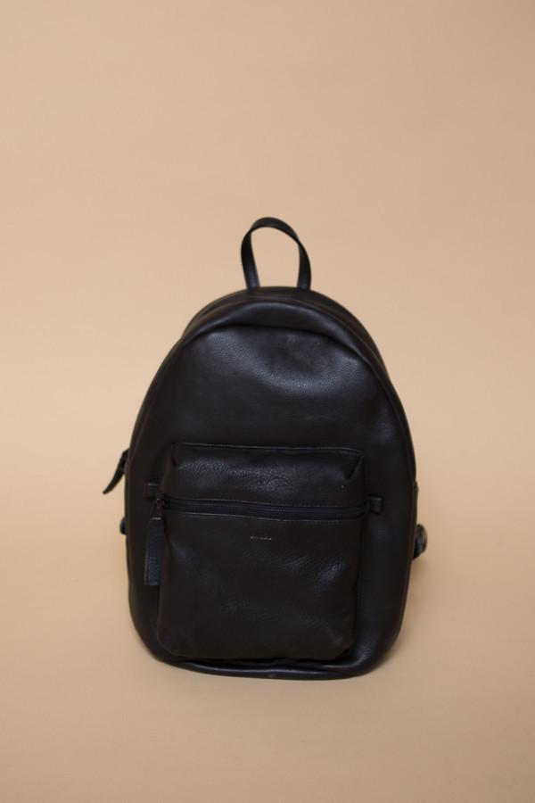 BAGGU Leather Backpack / Black