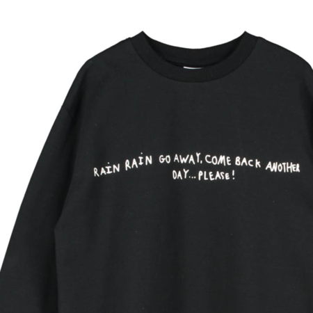 Kids Beau Loves Cloudy Long Sleeve T-Shirt - Black