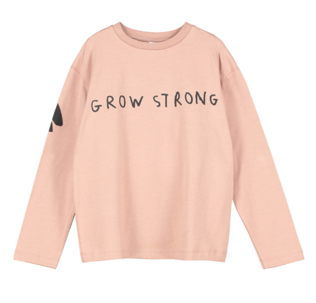 Kids Beau Loves Grow Strong Long Sleeve T-Shirt - Redwood