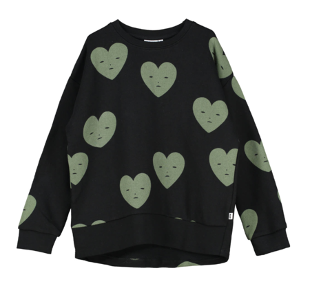 Kids Beau Loves Hearts Relaxed Fit Sweater - Black