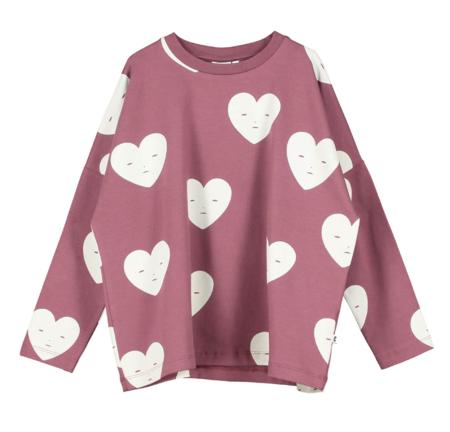 Kids Beau Loves Hearts Wide T-Shirt - Grape