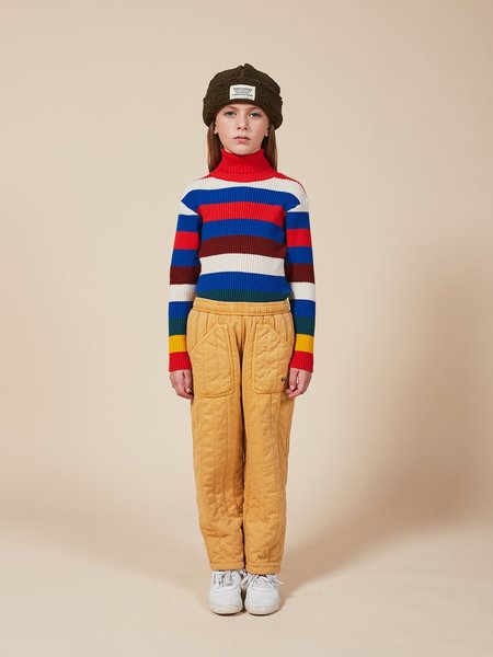 Kids Bobo Choses Multicolor Stripes Turtle Neck Jumper - Multi