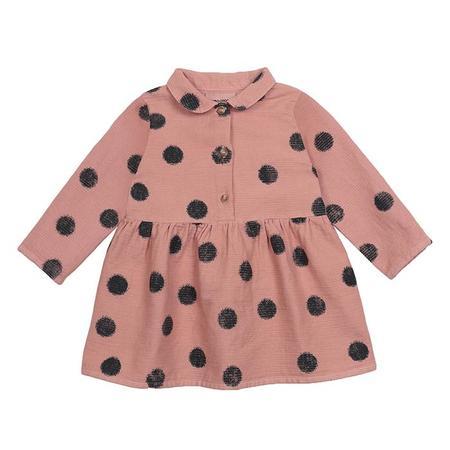 Kids Bobo Choses Baby Princess Dress With All Over Spray Dots Print - Pink