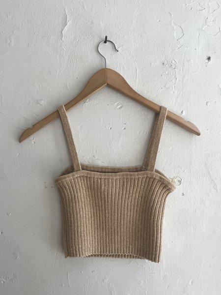 Kordal Rib Knit Tank - Nude/Cream