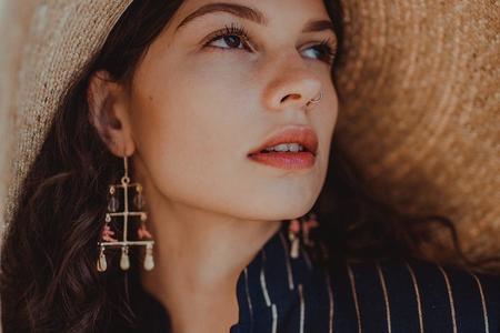 Takara Rising Sea earrings - 14K Gold Plated