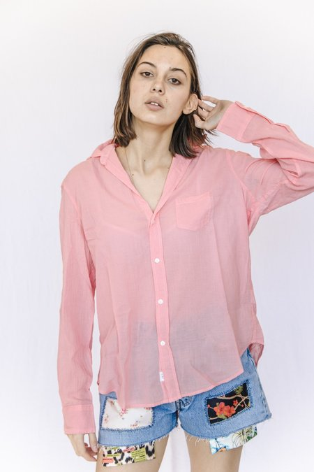 Frank and Eileen Cotton Voile Button Down - Coral Color