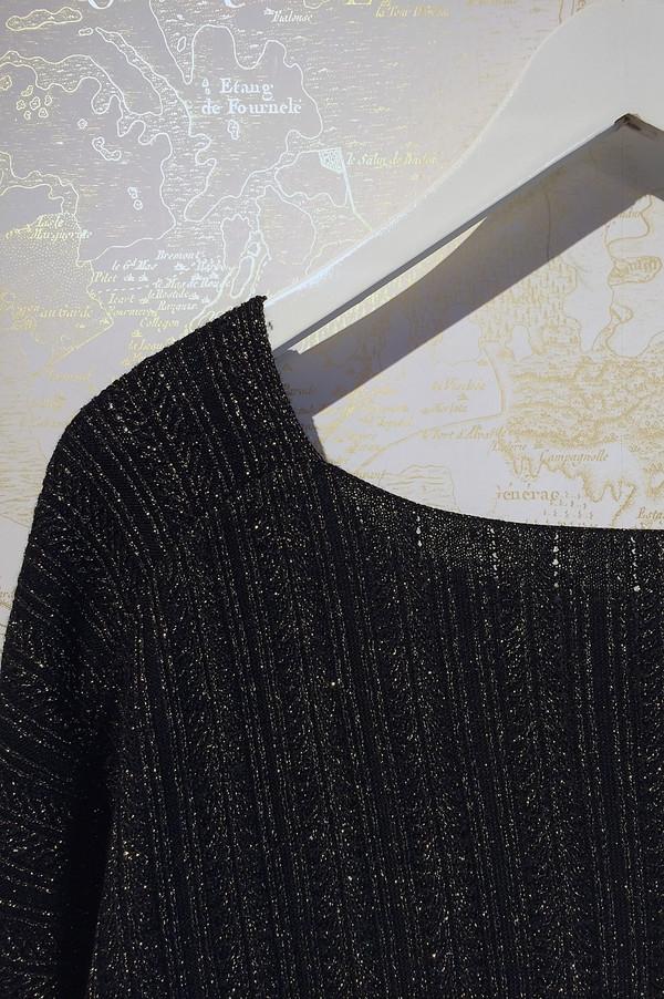 Derek Lam 10 Crosby Lurex Cross Front Sweater