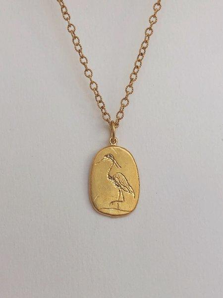 Mercurial NYC Quiet Heron Necklace