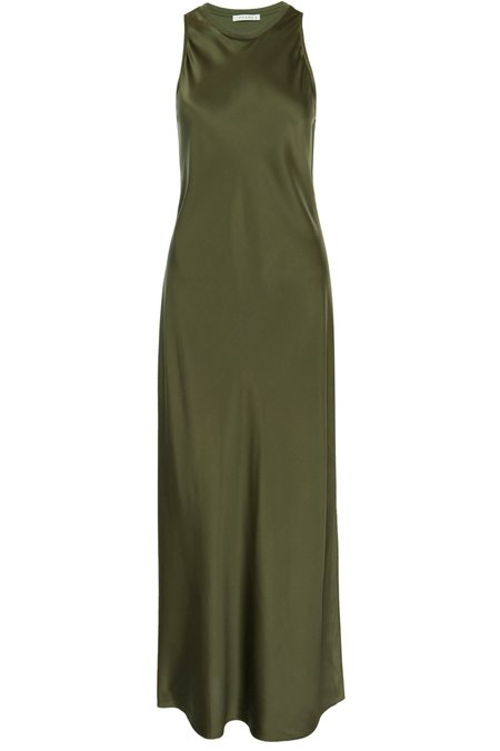 FRAME Denim Frame Bias Maxi Dress - Military Green